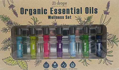 21 Drops Organic Essential Oils Wellness Set