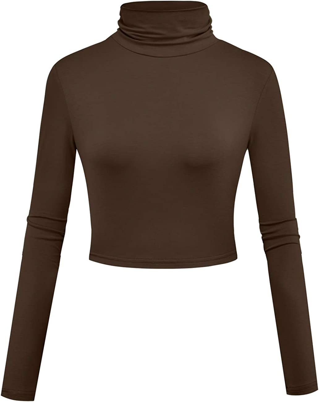 Herou Women Super popular Indefinitely specialty store Long Sleeve Crop Top Soft Turtleneck Lightweight Bas