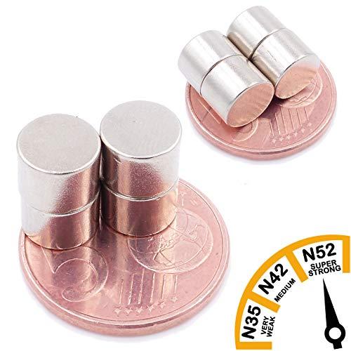 Brudazon | 15 mini schijfmagneten 8x6 mm | N52 dikke stand - neodymium magneten ultrasterk | Power magneet voor modelbouw, foto, whiteboard, prikbord, koelkast, knutselen | magnetische schijf extra sterk