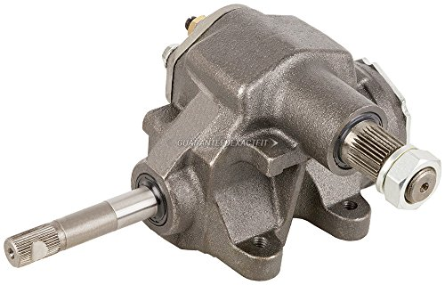 Manual Steering Gear Box Gearbox For Chevy Pontiac Buick Oldsmobile Replaces Saginaw 505 w/ 36-Spline Input Shaft - BuyAutoParts 82-70032AN New