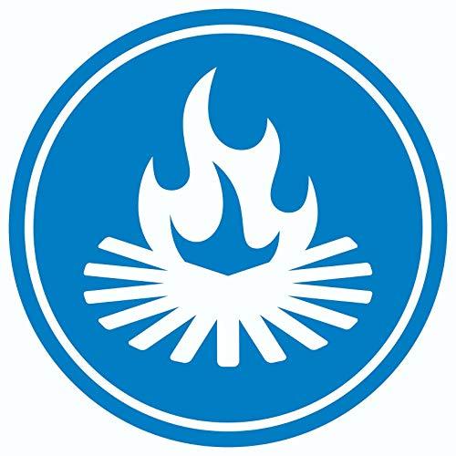 Lagerfeuerplatz Aufkleber Kreis Ø150mm