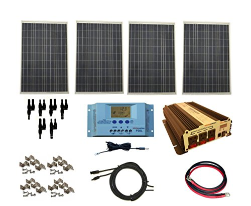 WindyNation Complete 400 Watt Home Solar System with 1500 Watt VertaMax Power Inverter