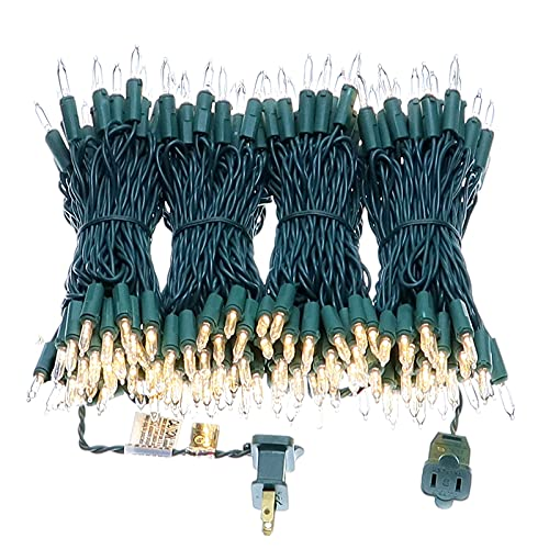 200 LED Warm White Christmas Lights, UL Certified Commercial Grade 66 Feet Green Wire Always On Mini Lights Set, for Indoor Outdoor Party, Wedding, Garden, Patio.