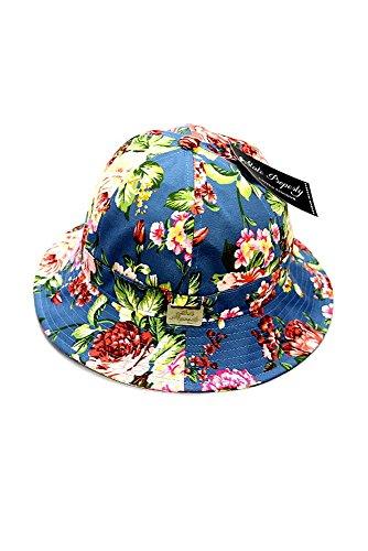 State Property Seau Cap Floral bleu sarcelle - - Taille unique