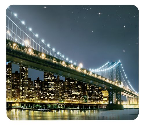 Wenko 2712920100 Motivplatte Brooklyn Bridge, für Glaskeramik Kochfelder, Schneidbrett, Gehärtetes Glas, 5650 x 50 x 0.556 cm, Mehrfarbig