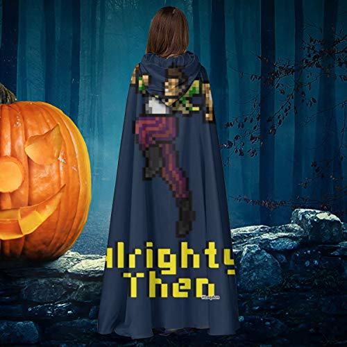 AISFGBJ Ace Ventura Alrighty Then Pixellated - Capa de Disfraz de Bruja con Capucha, Unisex, para Halloween