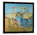 Kunst für Alle '–Fotografía enmarcada de Vincent Van Gogh Puente Levadizo en Arlés, de impresión h...