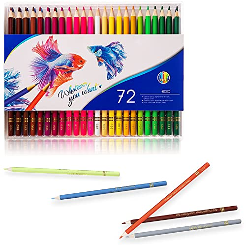 new coloring pencils for adults 72 Pack Multi Colored Pencil Set, Premier Colored Pencils for School and College, Soft Core for Adult Coloring, Drawing Arts & Sketching, Coloring Pencil for Adults and Kids