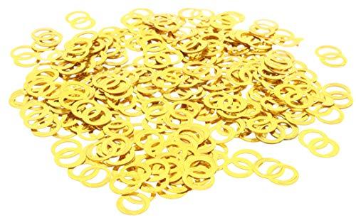 MIK Funshopping Streudeko Set Konfetti Tischdekoration Hochzeit (Eheringe goldfarben 15g)