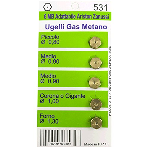 UGELLI GAS METANO 6MB ARISTON ZANUSSI compatibili