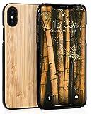 MyGadget Carcasa en Madera de Bambu Auténtica - Funda Rígida y Elegante para Apple iPhone X/XS -...