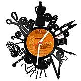 Wanduhr aus Vinyl Schallplattenuhr - Nähen macht glücklich - Upcycling Design Uhr Wand-Deko Vintage-Uhr Wand-Dekoration Retro-Uhr Made in Germany