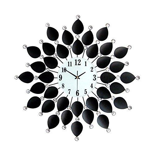 PIGE-horloge murale Nordic Jardin Minimaliste Horloge Murale Art Moderne Horloge muet Salon Quartz Horloge en Fer forgé Diamant matériel (3 Tailles) (Taille : 36cm)