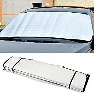 iTimo Car Cover Sun Shade Car Windshield Visor Cover Block Front Window Sunshade UV Protect Anti-theft Car Window Film