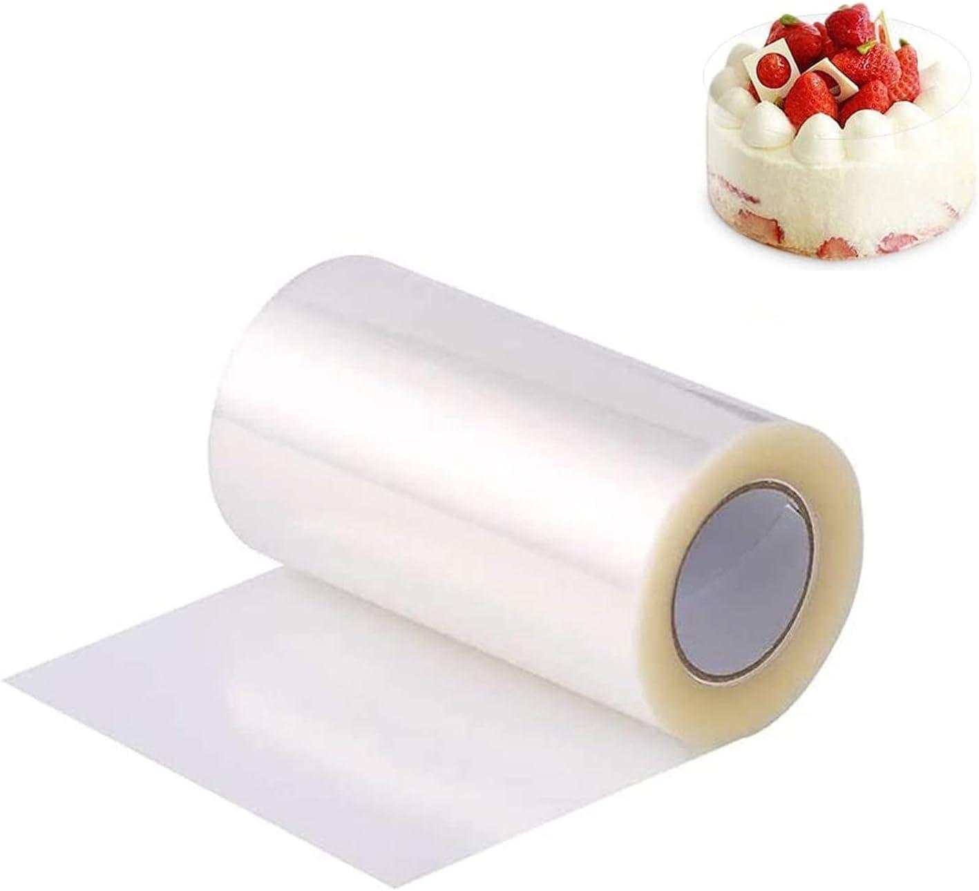 ZEACCT Rollo de Acetato Reposteria, Acetato Transparente Pastel, 10cm Ancho Rollo Modelar Transparente de Acetato Para Tartas Para Decoración de Repostería y Chocolate Mousse(10cm*10m)