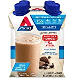 Atkins Gluten Free Protein-Rich Shake, Mocha Latte, Keto Friendly, 4 Count