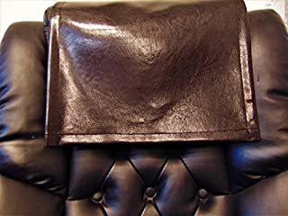 luvfabrics 14 by 30 Inch Chocolate Brown Houston Faux Leather Vinyl Sofa, Loveseat, Chaise, Theater Seat, RV Cover, Chair Caps, Headrest Pad, Recliner Head Cover, Protector