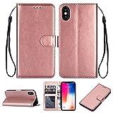 Phone Flip Case Pour IPhone XS MAX (6.5) Cas De Téléphone De Style Portefeuille, Bracelet De La...