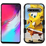 for Galaxy S10 5G Case (2019), for Galaxy S10 5G (6.7'), Hard+Rubber Dual Layer Hybrid Shockproof Rugged Impact Cover Case - Sponge Bob #ZH