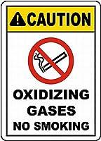 注意サイン-酸化性ガス禁煙。 通行の危険性屋外防水および防錆金属錫サイン