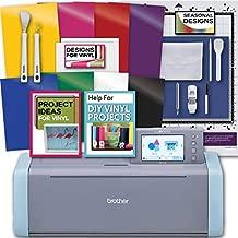 Brother ScanNCut DX Electronic Cutting Machine, Starter Vinyl, Tools & Designs Bundle