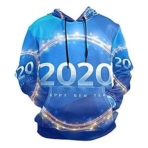 2020抽象青パーカー 3D プリント アスレチック フード付き スウェットシャツ男性 ガールズ ボーイズ用 (健康ファブリック)