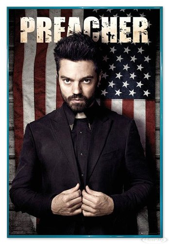 Close Up Preacher Poster Jesse (94x63,5 cm) gerahmt in: Rahmen türkis