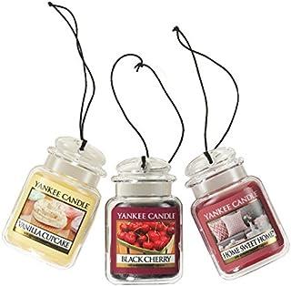 اتومبیل شمع Yankee Jar Ultimate Freshener Air 3 حلق آویز (کیک وانیلی ، گیلاس سیاه و خانه شیرین)