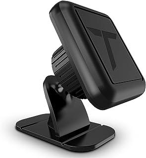 تلفن تلفن Trianium Magnetic Car for iPhone XS Max XR X 8 7 6s 6 Plus، Galaxy S10 5G S10 + S10e S9 S8 Edge Note 9، LG G7 ThinQ، Pixel 3 XL [Stick On Dashboard Holder 3M Adhes Bendable Baseable / Metal Plate]