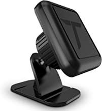 Trianium Magnetic Dash Car Mount Phone Holder Desk Stand Compatible with iPhone, Samsung, Huawei, Nokia, LG, Moto Smartphone, Stick-on Dashboard 3M-Adhesive Bendable Base and Metal Plate Included