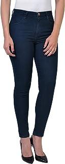 Calça Jeans Cigarrete Escura Cintura Média Yck's