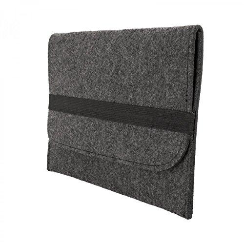 eFabrik hoes voor TrekStor SurfTab Breeze 9,6 Quad beschermhoes donkergrijs Tablet hoes beschermtas Case Cover Sleeve Vilt