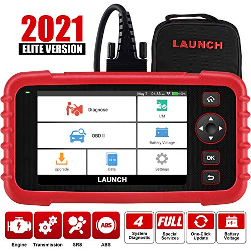 "LAUNCH Code Reader -CRP123X OBD2 Scanner Scan Tool for ABS SRS Transmission Engine Code Reader Car Diagnostic Tool with Battery Test, Android 7.0 Based, 5.0"" Touchscreen, AutoVIN, Wi-Fi Free Updates"