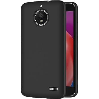 AICEK Funda Moto E4, Negro Silicona Fundas para Motorola Moto E4 ...