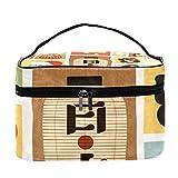 TIZORAX Símbolos de la Cultura Japonesa Bolsa de cosméticos Estuche para artículos de Viaje Caja...