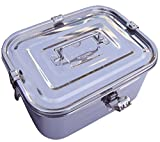 Stainless Steel Rectangular Kimchi Food Storage Container (5L / 168oz / 10.6')