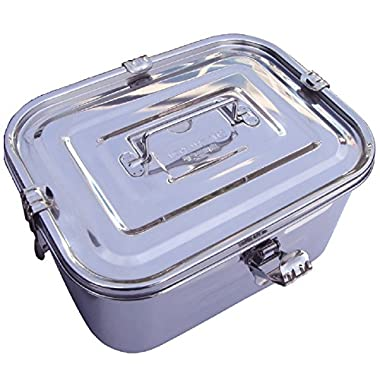 Stainless Steel Rectangular Airtight Leakproof Kimchi Food Storage Container (5L / 168oz / 10.6 )