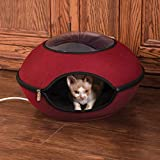 K&H PET PRODUCTS Thermo-Lookout Pod Heated Cat Bed, Red, 22in, 4W