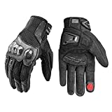 LEXIN Motorcycle Riding Gloves for Men, Insulated work gloves Touch Screen for Summer, Breathable Motorbike Gloves for Cycling, ATV, Driving L