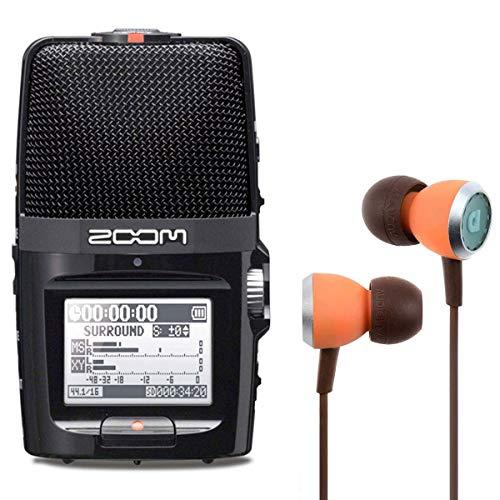 Zoom H2n Audio-Recoder + Audiofly InEar Ohrhörer