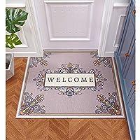 MDCG ホール 入り口 玄関マット カーペット フロアマット PVC ワイヤーループ素材 フットパッド (Color : A, Size : 40x60cm)