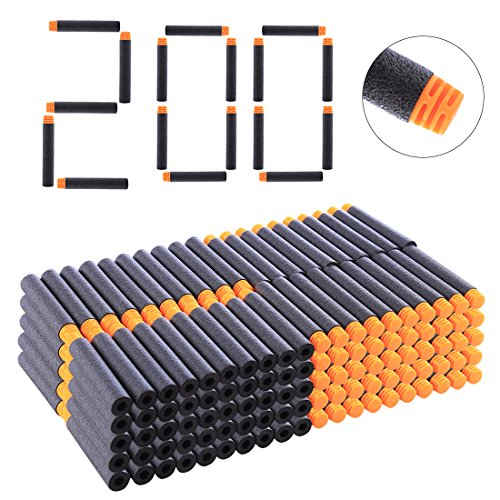 NFtop 200er Darts Pfeile Set für Nerf Infinus, Nerf Disruptor, Nerf Firestrike, Nerf Stryfe, Nerf Rapidstrike, Nerf Retaliator, Nerf Elite Jolt, Nerf Surgefire, Nerf Accustrike