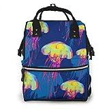 Bolsa de pañales, mochila de viaje Jellyfish Large Mommy Daddy Baby