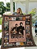 The Beatles Sherpad Blanket Gift for Anniversary, Mother's Day, Father's Day, Birthday, Made in US