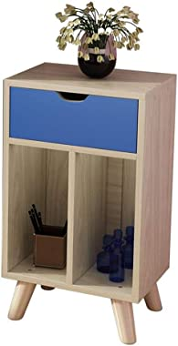 Virod 本棚の飾り戸棚マルチグリッド収納北欧書棚リビングルームフロアスタンドカウンタートップ収納 (Color : B, Size : 15.74*27.95*11.81in)