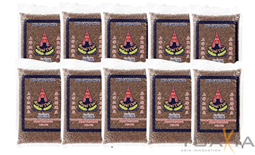 [ 10x 1kg ] ROYAL THAI Roter Naturreis / Riz Complet Rouge AAA / Red Cargo Rice + ein kleines...