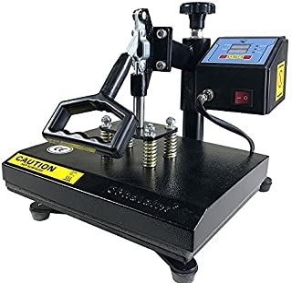 "ePhotoInc New T Shirt Transfer Heat Press Machine 12"" X 9"" Digital Swing Away Heat Press Transfer Machine for T-Shirt ZP9BLK"