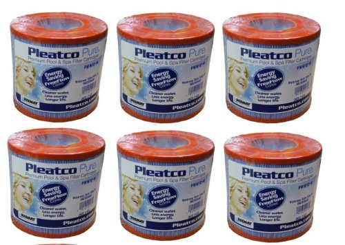 6 PACK PLEATCO PWW10-M Microban Hot Tub/Spa Skim Filter Pool...