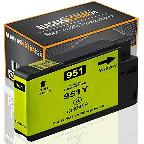Alaskaprint 1x Druckerpatrone Kompatibel für hp 951xl Yellow Gelb für HP Officejet Pro 8610 8600 8620 8100 8615 8625 251dw 276dw