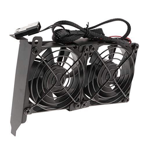 Ventilateur de Refroidissement du processeur Ventilateur Double 90mm - Alimentation 3 Broches/IDE 4 Broches - Refroidisseur de Carte Graphique Compatible for PC Express PCI Express A Propos du Venti